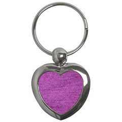 Purple Denim Key Chains (heart)
