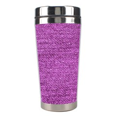 Purple Denim Stainless Steel Travel Tumblers by snowwhitegirl