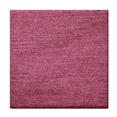 Pink  Denim Face Towel