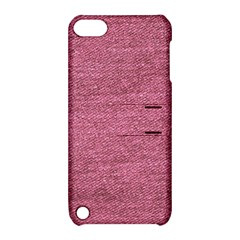 Pink  Denim Apple Ipod Touch 5 Hardshell Case With Stand by snowwhitegirl