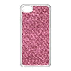 Pink  Denim Apple Iphone 8 Seamless Case (white) by snowwhitegirl