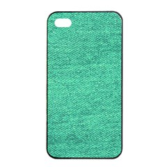 Green Denim Apple Iphone 4/4s Seamless Case (black) by snowwhitegirl