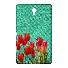 Green Denim Flowers Samsung Galaxy Tab S (8 4 ) Hardshell Case  by snowwhitegirl