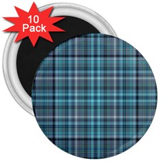 Teal Plaid 3  Magnets (10 Pack)  by snowwhitegirl