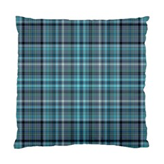 Teal Plaid Standard Cushion Case (two Sides) by snowwhitegirl