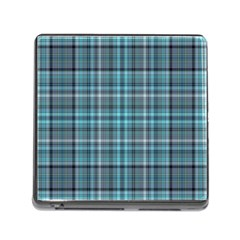 Teal Plaid Memory Card Reader (square 5 Slot) by snowwhitegirl