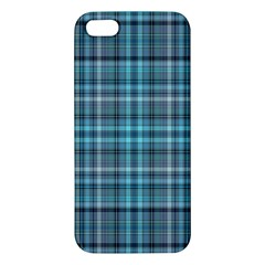 Teal Plaid Apple Iphone 5 Premium Hardshell Case by snowwhitegirl