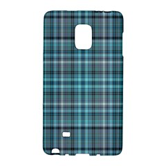 Teal Plaid Samsung Galaxy Note Edge Hardshell Case by snowwhitegirl