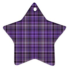 Purple  Plaid Ornament (star) by snowwhitegirl