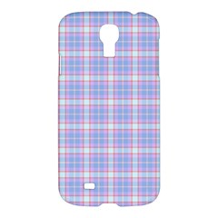 Pink Blue Plaid Samsung Galaxy S4 I9500/i9505 Hardshell Case by snowwhitegirl