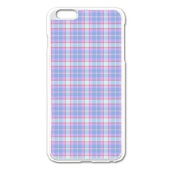 Pink Blue Plaid Apple Iphone 6 Plus/6s Plus Enamel White Case by snowwhitegirl