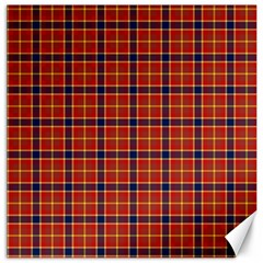 Red Yellow Plaid Canvas 16  X 16   by snowwhitegirl