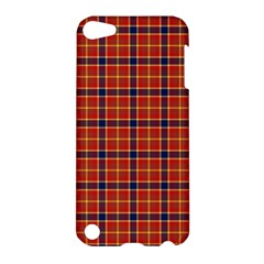 Red Yellow Plaid Apple Ipod Touch 5 Hardshell Case by snowwhitegirl