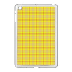Yellow Sun Plaid Apple Ipad Mini Case (white) by snowwhitegirl