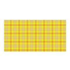 Yellow Sun Plaid Satin Wrap by snowwhitegirl