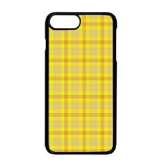Yellow Sun Plaid Apple Iphone 8 Plus Seamless Case (black) by snowwhitegirl