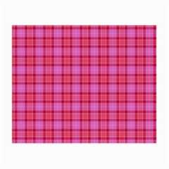 Valentine Pink Red Plaid Small Glasses Cloth by snowwhitegirl