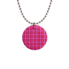 Valentine Pink Red Plaid Button Necklaces