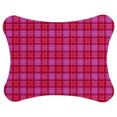 Valentine Pink Red Plaid Jigsaw Puzzle Photo Stand (bow) by snowwhitegirl