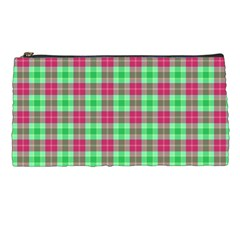 Pink Green Plaid Pencil Cases