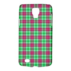 Pink Green Plaid Samsung Galaxy S4 Active (i9295) Hardshell Case by snowwhitegirl
