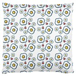 Eggs White Large Flano Cushion Case (One Side) Front