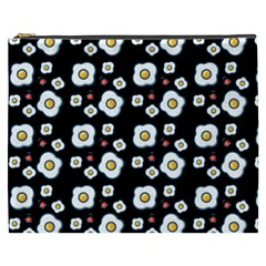 Eggs Black Cosmetic Bag (xxxl) by snowwhitegirl