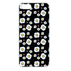 Eggs Black Apple Iphone 5 Seamless Case (white) by snowwhitegirl