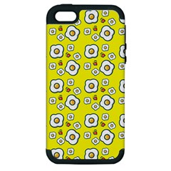 Eggs Yellow Apple Iphone 5 Hardshell Case (pc+silicone) by snowwhitegirl