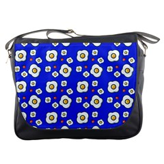 Eggs Blue Messenger Bag by snowwhitegirl