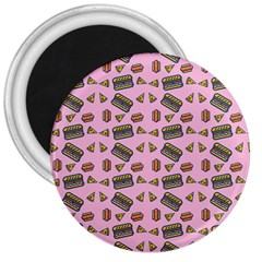 Fast Food Pink 3  Magnets