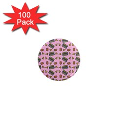 Fast Food Pink 1  Mini Magnets (100 Pack)