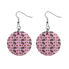 Fast Food Pink Mini Button Earrings