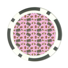 Fast Food Pink Poker Chip Card Guard (10 Pack)
