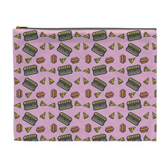 Fast Food Pink Cosmetic Bag (xl)