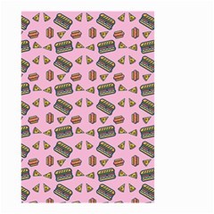 Fast Food Pink Small Garden Flag (two Sides)