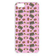 Fast Food Pink Apple Iphone 5 Seamless Case (white) by snowwhitegirl