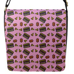 Fast Food Pink Flap Closure Messenger Bag (s)