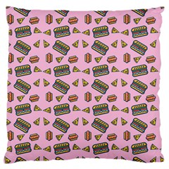 Fast Food Pink Standard Flano Cushion Case (two Sides)