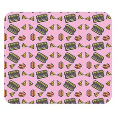 Fast Food Pink Double Sided Flano Blanket (small)