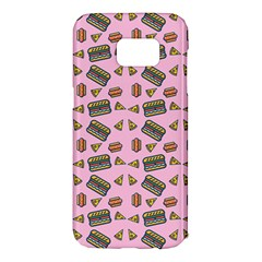 Fast Food Pink Samsung Galaxy S7 Edge Hardshell Case