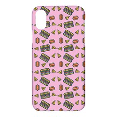 Fast Food Pink Apple Iphone X Hardshell Case