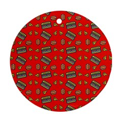Fast Food Red Ornament (round)