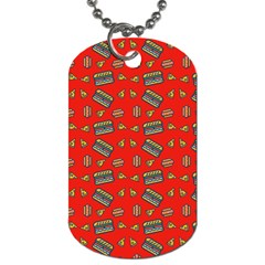 Fast Food Red Dog Tag (two Sides)