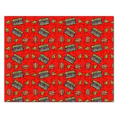 Fast Food Red Rectangular Jigsaw Puzzl