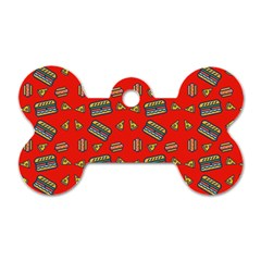 Fast Food Red Dog Tag Bone (two Sides)