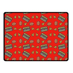Fast Food Red Fleece Blanket (small)