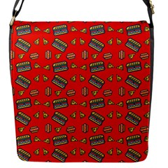Fast Food Red Flap Closure Messenger Bag (s)
