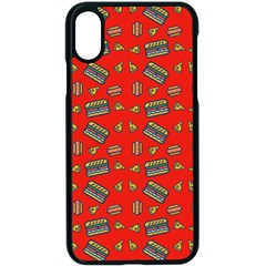 Fast Food Red Apple Iphone X Seamless Case (black)