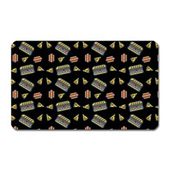 Fast Food Black Magnet (rectangular) by snowwhitegirl